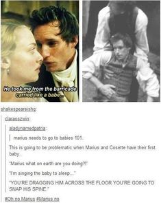 Marius doesn't know how babies are supposed to be treated