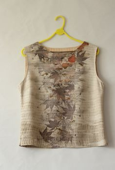 red2white ecoprint top