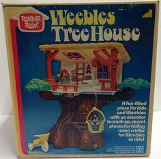ROMPER ROOM: 1975 Weebles Tree House #Vintage #Toys
