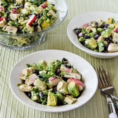Kalyn's Kitchen®: Recipe for Chicken, Black Bean, Avocado, and Radish Salad with Lime and Cilantro