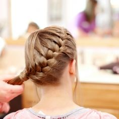 Instead of an up-do, be unique and braid your hair for your wedding!