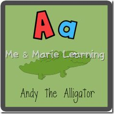 """Aa: Andy the Alligator"" Letter Pack (free)"