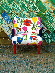 Vintage Flower Art Deco Chair by Vintage Renewal by vintagerenewal, $1500.00