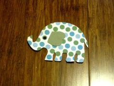 Elephant Iron On Applique. $2.50, via Etsy.