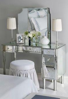 Bedroom Makeup Vanity with Lights | make up vanity, vanity desk, console, bedroom vanity, bathroom vanity ...