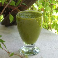 Weight Loss Smoothie Foods  All fruits and vegetables are going to be great for weight loss, but there are a few that stand out in the crowd. Foods that are low in calories and high in fiber are going to kickstart weight loss. Some of the best ingredients to add to your weight loss smoothies are grapefruit, pumpkin (pumpkin that is cooked and cooled will have more pumpkin flavor than raw pumpkin), kale, apples (with skin), blueberries, pomegranates, chia seeds, raspberries, pears (with skin), strawberries, bananas, oranges, broccoli, celery, cucumber, carrots and all leafy greens.  Weight Loss Smoothie Ratio  A good ratio of fruits to greens that I recommend for weight loss is this: 2 cups of fruit to 3 to 4 cups of greens and 1 cup of water. Add additional veggies if desired.  The following low-calorie, fiber-rich smoothie recipes use this ratio.  Banana-Raspberry Smoothie  1 cup raspberries  1 medium banana, peeled  3 cups fresh baby spinach  2 teaspoons chia seeds, soaked for 20 minutes  4 to 6 ounces of filtered water  Add all the ingredients to your blender and blend on high for 30 second or until creamy.  Calories: 213 | Protein: 6g | Carbs: 47g | Fat: 3g | Fiber: 14.9g  Mango-Peach Smoothie  2 small champagne mangoes or one large regular mango  1 large peach, pitted  5 ounces fresh baby spinach  4 to 6 ounces of filtered water  Add all the ingredients to your blender and blend on high for 30 second or until creamy.  Calories: 235 | Protein: 6g | Carbs: 57g | Fat: 1g | Fiber: 9.5g
