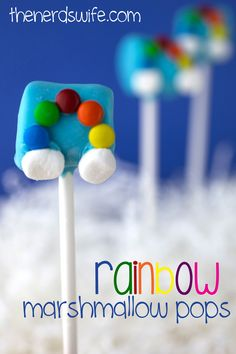 Easy Rainbow Marshmallow Pops - A fun treat for St. Patrick's Day!