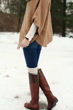 jillgg's good life (for less) | a style blog: my everyday style: furs + capes! cowgirl boots, furs, capes, outfit, everyday style, fur cape, beauti, brown boots, boot socks