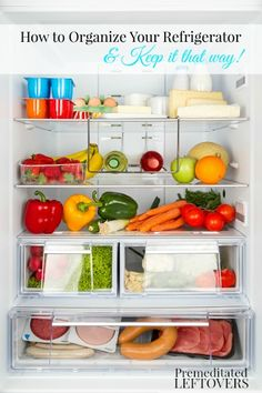 How to Organize Your Refrigerator and Keep it that Way! Tips for organizing your refrigerator and setting up a system so you can keep it organized.