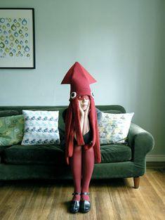 disfraz de calamar - squid costume