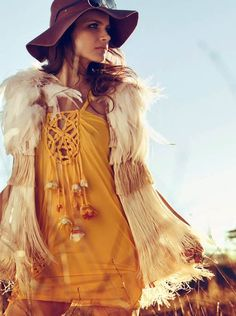 Cool dreamcatcher modern hippie top with boho chic fur jacket. For the BEST Bohemian fashion looks FOLLOW http://www.pinterest.com/happygolicky/the-best-boho-chic-fashion-bohemian-jewelry-gypsy-/ now!