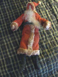Extreme Grunge Primitive Folk Art Santa Claus OOAK Vintage Batting Paperface