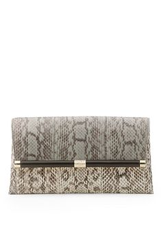 440 Envelope Colorblock Snake Clutch In Stone/ Natural Roccia