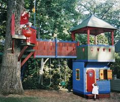 This one has a zip line... Love it!