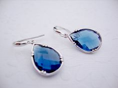Sapphire earrings Blue sapphire jewelry Drop by 2010louisek7, $30.00