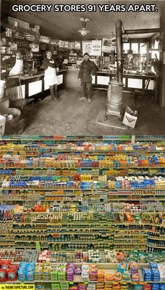 Grocery stores 91 years apart…