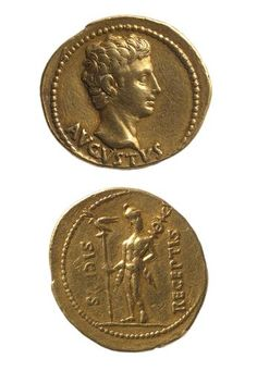 Aureus of Augustus (27 BC - 14 AD) from Colonia Patricia (Cordoba)-The Roman Empire.