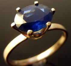 ON SALE   Sapphire 14K Gold Ring  Was 59900 now by ChincharMaloney, $525.00