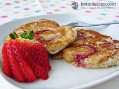 The KetoDiet App Blog | Strawberry Ricotta Pancakes
