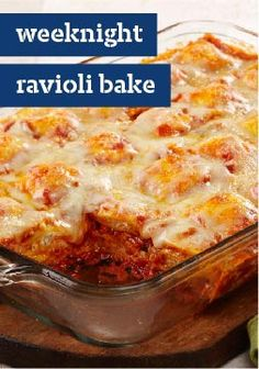 Weeknight Ravioli Bake – Layers of frozen ravioli are the not-so-secret star of this bubbly, lasagna-like bake that's easy to assemble on even the busiest of weeknights.