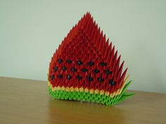 3D+Origami | 3D Origami Watermelon by ~bartlq on deviantART