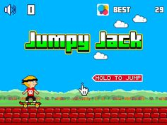 Jumpy Jack App by redBit Game. Retro Gaming Apps.
