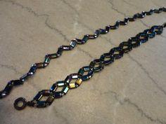 Tila bead necklace and bracelet by Karla Krohn