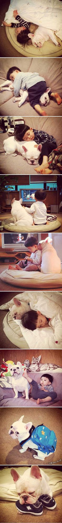 A boy and his dog <3