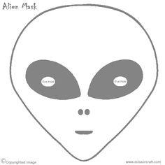 printable alien mask.