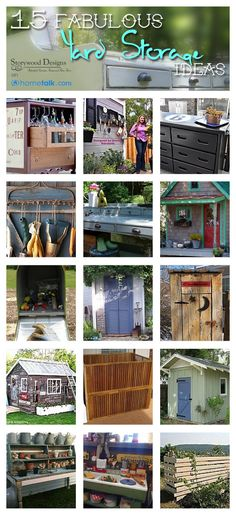 15 Fabulous Yard Storage Ideas | by 'Storywood Designs' blog!