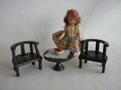 Vintage Miniature Doll House Parlor Set for Large by TheToyBox, $25.00