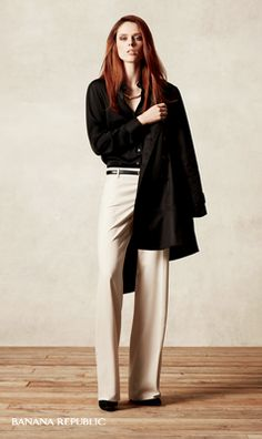 Fall Trend Report: Wide Leg Pants   Tip: For a tall and lean silhouette, keep the hem long enough to cover most of your shoe, and tuck in your top.