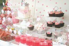 pink princess tea party