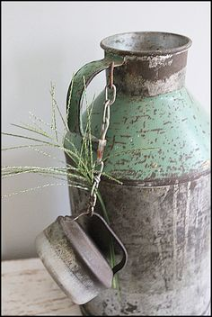 Vintage Milk Jug. Can use by front door as umbrella holder.  Get in black or brown or red or white.