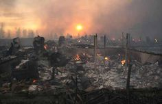 An entire subdivision in southeast Slave Lake was reduced to charred smouldering remains after violent wildfires tore through the town on Sunday, May 15, 2011. #slavelake