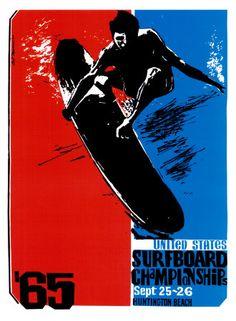 Vintage surfing poster.