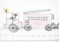 Fire Truck Guided Drawing- Free download!  #ece