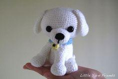 Puppy free crochet pattern by Little Yarn Friends. FREE PATTERN 5/14.