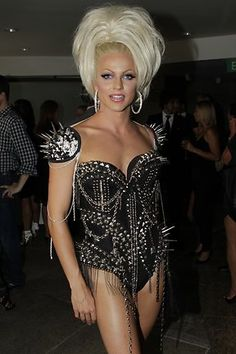 Courtney Act at the Dannii Minogue Style Queen TV Show launch at Aria Restaurant, Circular Quay in Sydney.