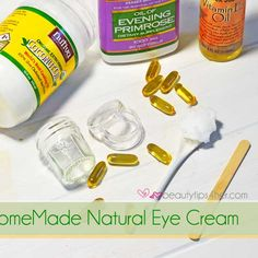 Homemade Eye Cream – How to Get Rid of Wrinkles, Fine Lines and Dark Circles | Beauty and MakeUp Tips Eye Cream Diy, Eye Wrinkles Remedies, Eye Wrinkle Cream, Eye Cream Fine Lines, Dark Circl, Eye Wrinkle Remedies, Diy Eye Creams, Homemad Eye, Diyeyecream