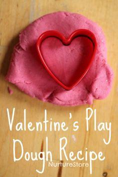 valentine play dough recipe no cook
