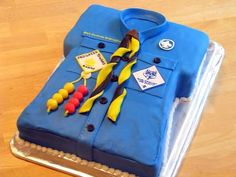 Shirt Cub Scout Cake, great idea for Eagle Scouts as well.