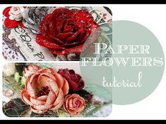 Paper flowers video tutorial