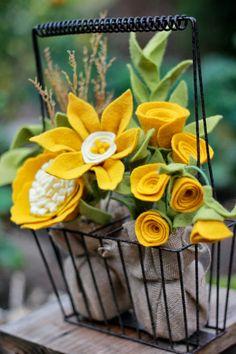 Fall Felt Flower Bouquet