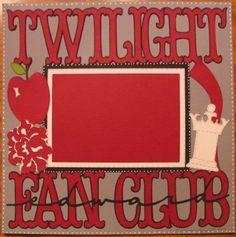 Twilight Fan Club card #cricut