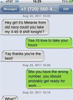 funny wrong number text. I couldn't stop laughing!!!