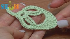 How to Crochet Leaf Little Oval Tutorial 20  http://sheruknitting.com/videos-about-knitting/crochet-leaf-lessons/item/247-how-to-crochet-little-oval-leaf.html In this tutorial we will be making an oval leaf using tall double treble and triple treble crochet stitches, and other stitches like single crochet, half double crochet, double crochet, treble crochet. It is fast to make and a good edition for you project. All the best to you!