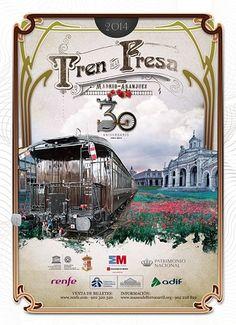 El tren de fresa Madrid - Aranjuez. Un precioso recorrido en trenes antiguos.