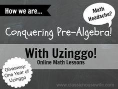Conquering Pre-Algebra With Uzinggo Online Math (Review)