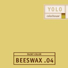 YOLO Colorhouse BEESWAX .04 - Yellow- but with a hint of green-just like an anjou pear. Pair with dark grey concrete counterops in a modern kitchen.